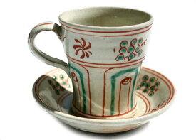 Coffee timeが多くなるとき ベトナム色漂う エキゾチックなコーヒーカップ 京焼 清水焼 紅安南珈琲碗皿【あす楽】