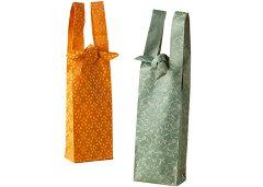プレゼント用ボトルバッグ裂地ボトルバッグワインバッグ緞子