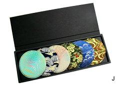 金彩を施した着物生地でつくったコースターcoaster-彩-(6枚入りセット)