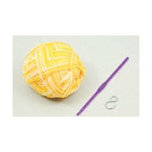 【家庭科教材】 手作りアクリルたわし 白×黄