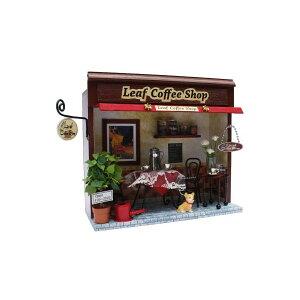 教材 家族工作・大人の工作 ミニチュアドールハウス(街角のお店キット / リーフコーヒーショップ)