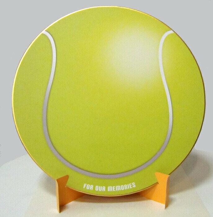 おもしろ教材 シノコマ スポーツ色紙(封筒・紙製スタンド付き)テニスボール(リアル) 部活色紙