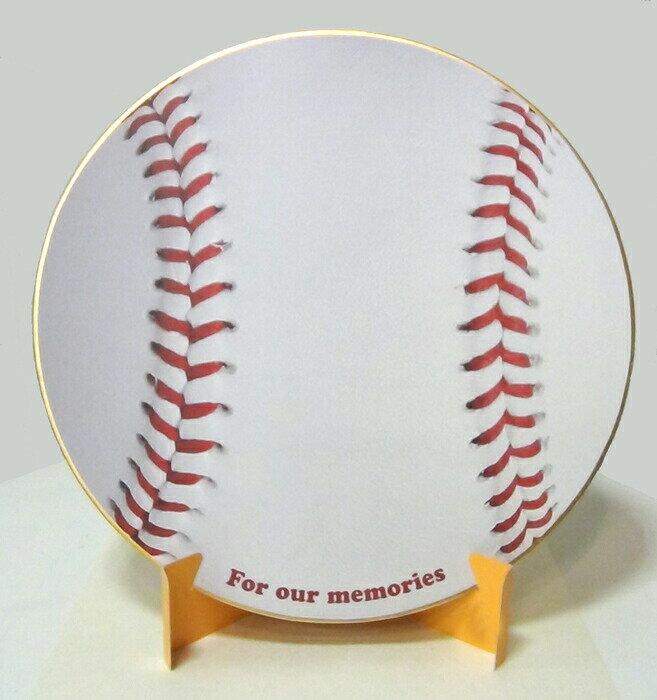 おもしろ教材 シノコマ スポーツ色紙(封筒・紙製スタンド付き)ベースボール(リアル) 野球部活色紙