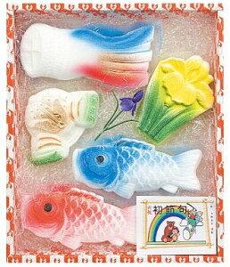 鯉のぼり(KN-200)初節句用 内祝 祝い砂糖 鯛型砂糖製品 成型砂糖ギフト初節句祝いに、おめでたい祝鯛と縁起物のセット!長期保存可能で扱いやすい【初節句 端午の節句 子供の日 こど