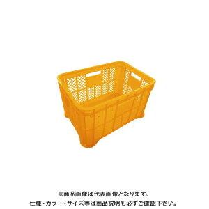 【送料別途】【直送品】安全興業 採集コンテナ オレンジ 平底 520×365×305mm (6入)