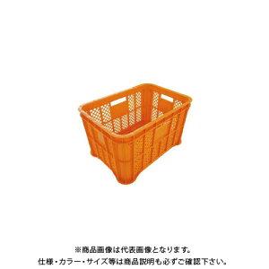 【送料別途】【直送品】安全興業 採集コンテナ 2.0 (重量1.98KG) 平底 オレンジ 525×360×305mm (6入)