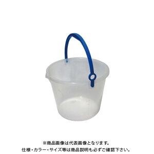 【直送品】安全興業 透明バケツ 10L 乳白色 300φ×235mm (26入)