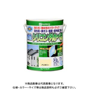 カンペハピオ 水性シリコン外かべ用 アイボリー 3L 00427650071030