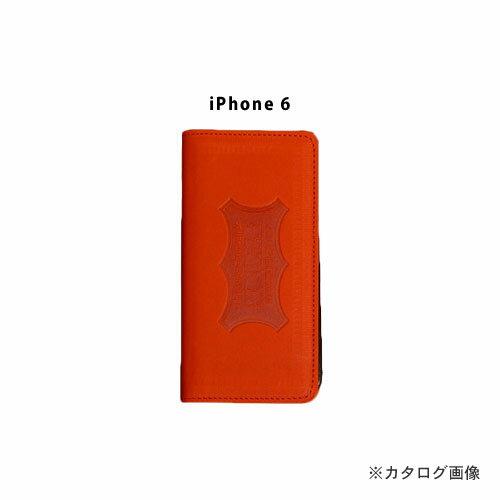 ニックス KNICKS i6-R iPhone6 本革携帯ケース カードホルダー付 レッド