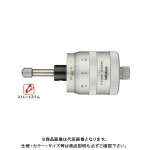 ミツトヨ Mitutoyo マイクロメータヘッド(高機能形) X・Yテーブル対応 ストレートステム 先端平面(回転防止装置付)(152-389) MHG1-25Y2