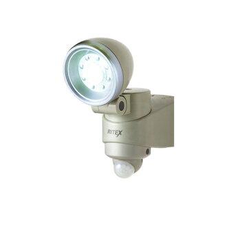 武藏RITEX黑麦纺绩品干电池式1.3W LED感应器灯LED-110