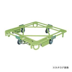 【直送品】サカエ SAKAE 自在移動回転台車 フットブレーキ付 RC-4FBG