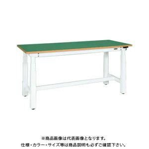 【直送品】サカエ SAKAE 電動昇降作業台(重量タイプ) サカエリューム天板 1500×750×660〜1100 ホワイト DLK-157FAW