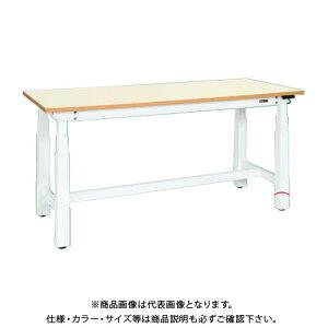 【直送品】サカエ SAKAE 電動昇降作業台(重量タイプ) メラミン天板 1800×750×660〜1100 ホワイト DLK-187IMAW