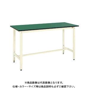 【直送品】サカエ SAKAE 軽量高さ調整作業台TKK9タイプ(改正RoHS10物質対応) 組立式 1800×600×900〜1100 グリーン TKK9-186FE