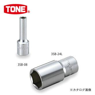 "TONE tone 9.5mm(3/8"")深的插口(6角)英寸尺寸3SB-10L"