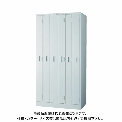 個別送料2000円 直送品 TRUSCO スリムロッカー 6人用 900X515XH1790 ホワイト WL-6S