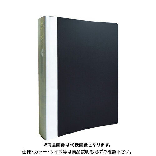 TRUSCO PP Oリングファイル A4タテ 35mm ブラック TOF435-BK