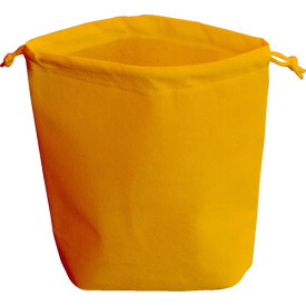 TRUSCO 不織布巾着袋 B5サイズ マチあり オレンジ 10枚入 HSB5-10-OR
