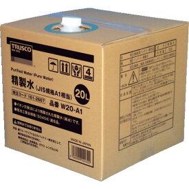 【直送品】TRUSCO 精製水 20L JIS規格A1相当 10個お纏め品 W20-A1-10