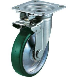 ユーエイ 産業用キャスター旋回固定式自在車 150径ウレタン車輪 UWJK-150