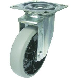 ユーエイ 新型プレスキャスター自在車 200径ナイロンホイルウレタン車輪 PMS-200GUB