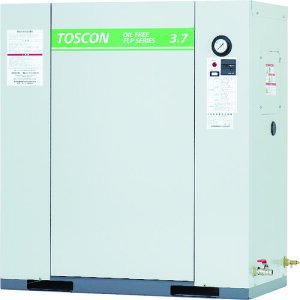 【直送品】東芝 静音シリーズ オイルフリー コンプレッサ(低圧) FLP86-37T