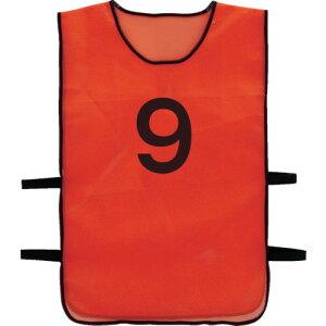 TRUSCO 番号安全ベスト 「9」 オレンジ TBB-9
