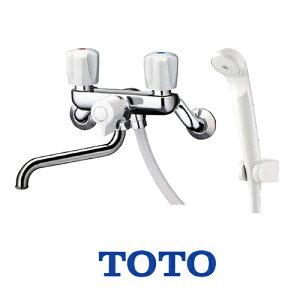 【送料無料】 TOTO 浴室シャワー水栓 一時止水なし 蛇口 混合水栓 蛇口 壁付きタイプ [TMS25C] 2ハンドルシャワー水栓 スプレー(節水)シャワー 【シールテープ無料プレゼント!(希望者のみ