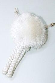 男物羽織紐 フォーマル 正絹【白・グレー・金茶・黒】 金属糸【金】