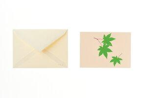 シルク刷シングルカード 楓