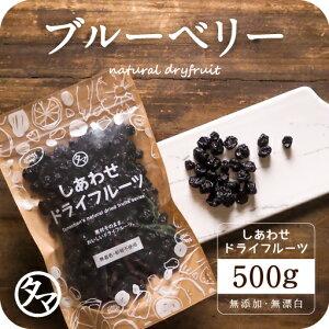 【送料無料】オーガニック・ドライブルーベリー500g(250g×2袋)(アメリカ産/無添加)爽やかな酸味と豊富なアントシアニンが特徴のブルーベリー。 ドライフルーツ 無添加 有機砂糖使用 有機