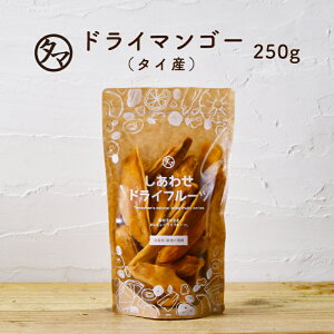 【送料無料】有機JAS認定ドライ マンゴー(250g/タイ産/無添加)とても希少なナムドクマイ種オーガニックマンゴーを使用。酸味と甘みのバランスが良いドライマンゴー ドライフルーツ 無添加