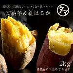 【送料無料】人気の安納芋&紅はるかの高糖度ドリームセット