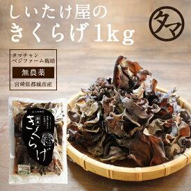 【送料無料】国産きくらげ--1kg 約10kgの生きくらげを使用 国産 きくらげ 木耳 キクラゲ 業務用