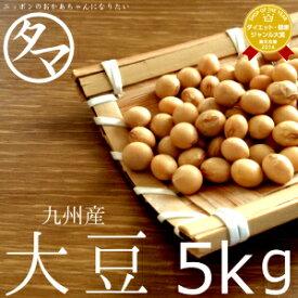 【送料無料】九州(熊本)大豆 5kg(30年度産 一等級ダイズ)|業務用 料亭用 ホテル用 イベント用 生大豆 大豆の栄養 国産 大豆 豆 エクオール