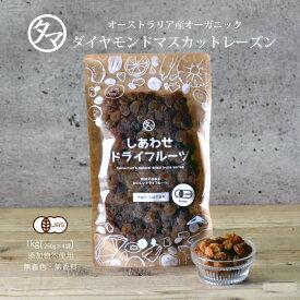 【送料無料】ダイヤモンドマスカットレーズン1kg(250g×4袋)(オーストラリア産/無添加)クセのない甘味、シャープな酸味が特徴。|ドライフルーツ 無添加 砂糖不使用 ノンオイル オーガニック 有機JAS認定 raisin