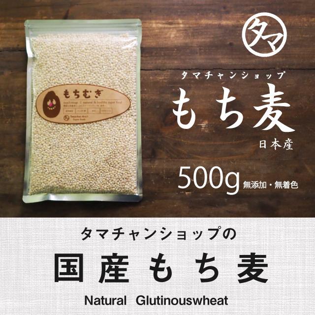 【送料無料】もち麦500g (国産・無添加・29年度産)もっちりプチプチとした食感と食物繊維が豊富!高タンパク、高ミネラルで、β-グルカンという食物繊維は白米に比べ20倍以上!|国産もち麦 遺伝子組み換えなし もちむぎ もち麦国産 もち麦ごはん 麦ご飯