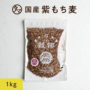 【送料無料】超希少な紫もち麦1kg(九州産)平成30年度産紫が濃い状態で収穫したもち麦です。もち麦に比べてポリフェノールの1種、アントシアニジンを多く含み、より一層もちもちぷちぷ