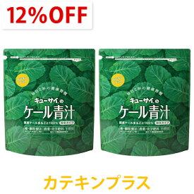 キューサイ青汁 ケール青汁カテキンプラス 粉末タイプ 420g入 2袋まとめ買い