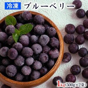冷凍ブルーベリー 九州産 冷凍 ブルーベリー 1kg 500g×2袋 送料無料 サイズ不選別 フルーツ 果物 取り寄せ 通販 《7-14営業日以内に出荷予定(土日祝日除く)》
