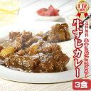 【送料無料】2セット購入で辛味スパイスプレゼント!牛すじ カレー 200g×3パック レ...