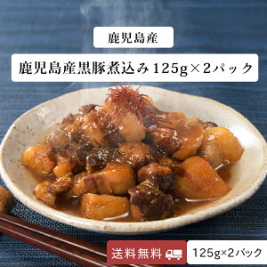 黒豚 煮込み 鹿児島産 国産 特製味噌ダレ 長期保存 メール便 125g×2パック