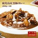 九州のごちそう便特製 黒豚カレー200g×3パック レトルト カレー 常温保存 博多 惣菜 レトルトカレー スパイス カレー…