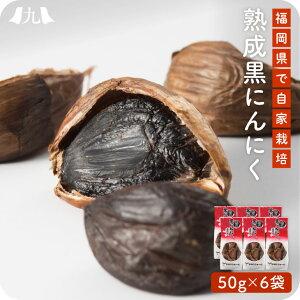 【送料無料】 熟成黒にんにく お得な詰め合わせ 50g×6袋 にんにく 醗酵 福岡 九州 国産