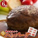 あか牛生ハンバーグ 6個入 ギフト あか牛 国産 熊本産 生ハンバーグ 冷凍 手ごね ハンバーグ【送料無料】