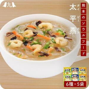 【送料無料】熊本名物 「太平燕」(レトルト マグカップサイズ) 6袋セット タイピーエン 春雨 スープ ヘルシー スープ 白湯 ギフト 贈り物