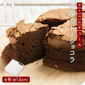 産地直送【ガトーショコラ】 4号サイズ(12cm) チョコレート ケーキ ホール 食べきりサイズ 友チョコ ギフト お取り寄せ 冷凍 送料無料