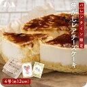 【バレンタイン2021・予約販売】(2/1より順次発送)焦がしレアチーズケーキ 4号サイズ(12cm) ホール 食べきりサイズ …
