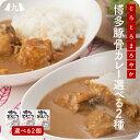 【送料無料】 博多とんこつカレー 180g×2食 カレー お試し 2個セット 九州 牛肉 豚肉 鶏肉 ご当地カレー レトルト食品
